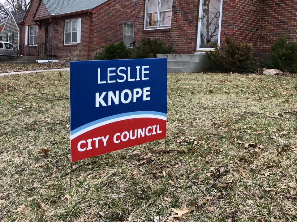Leslie Knope for City Council yard sign